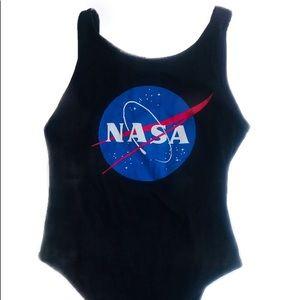 NASA Women's Black bodysuit one piece size 8